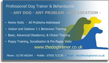 Dog_Training_dog_trainer_behaviourist_kent_maidstone_medway_ Business Card